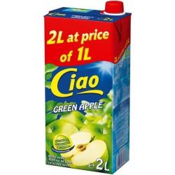 сок CIAO 2 литра зелена ябълка
