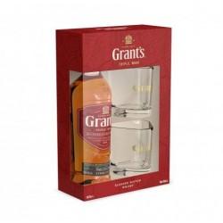 уиски грантс 0.7 с две чаши