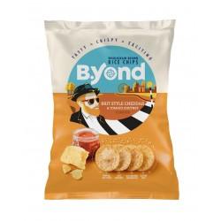 B.YOND оризов чипс чедър 70...