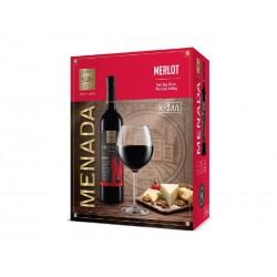 червено вино менада мерло 3 л.
