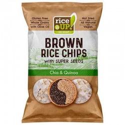 Оризов чипс чиа и киноа 60 гр.